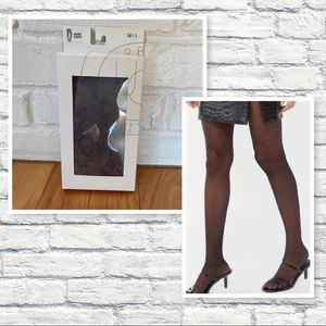 Urban Outfitters Black Sheer Tights